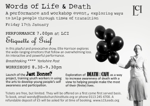 Words of Life and Death flier
