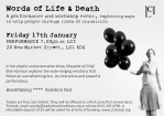Words of Life and Death flier_Simple