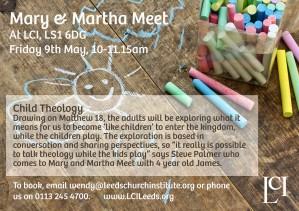 Mary And Martha Meet flier_Fri9thMay2014
