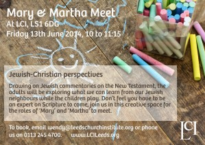 Mary And Martha Meet flier_Fri13thJune2014