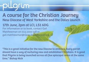 Pilgrim course launch flyer