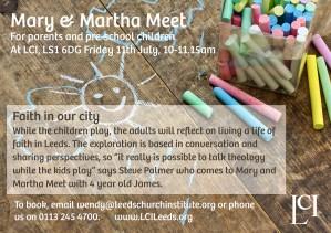 Mary And Martha Meet flier_Fri11thJuly2014