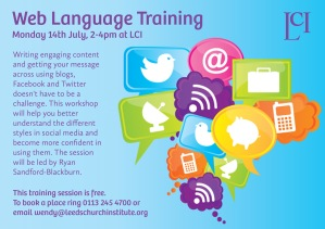 Web language training flier