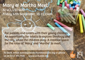 Mary And Martha Meet flier_12th Sept