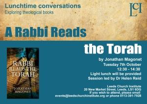 A rabbi reads the Torah copy