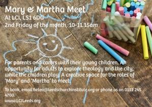 Mary And Martha Meet flier copy