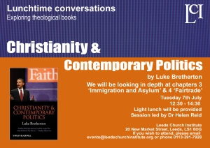 Lunchtime ConversationsChristianity and Contemporary Politics_july copy