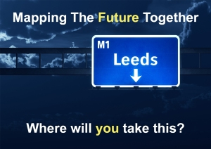 Mappping the future postcard front