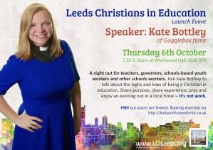 Leeds Christians In Education Launch Flier